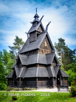 Stave Church Exterior at Norsk Folks Museum Oslo, Norway