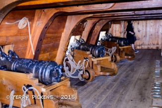 Replica of Vasa Cannon Deck