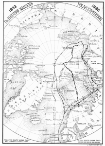 Fram Arctic Expedition Map