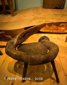 Round Burl-wood Chair at Nordiska Museet