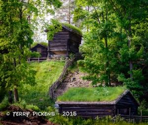 Norsk Folkemuseum - Farm on a hill