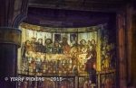 Stave Church - Interior wood painting of the Last Supper
