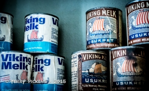 Norsk Folkemuseum - Store Shelf with canned milk