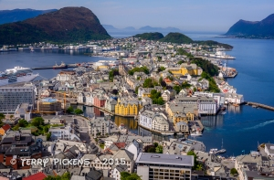 View of Alesund from Fjellstua