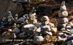 Stones along path at Flamsbana Station
