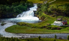 River in valley along Flam RR