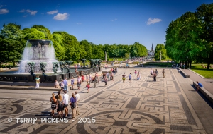 Looking to the the Main Gate from the Plateau at Frogner Park
