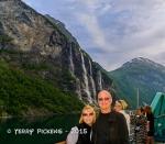 Geiranger Fjord waterfall