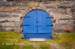 Blue Door in stone wall