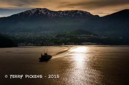 Fjord sunset