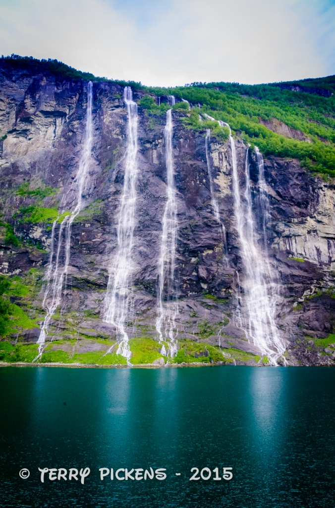 Geiranger Fjord Seven Sisters Waterfall