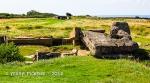 Pointe Du Hoc - destroyed concrete bunker