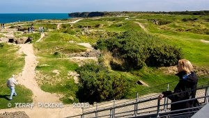 Pointe Du Hoc -bombed out bluff