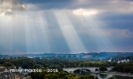 Sunrays over Avignon