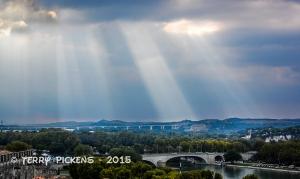 Sunrays over Avignon