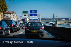 Driving thru Lyon, France