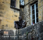 One of the art statues around Sarlat