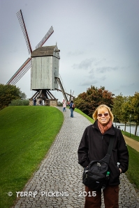 Bruges windmill on main canal