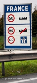 France Speed Sign