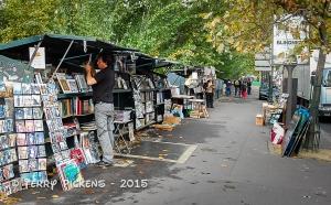 Bookstalls along the river