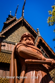VIking at Stave Church, Norway Pavilion