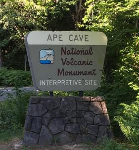 Ape Cave entry sign