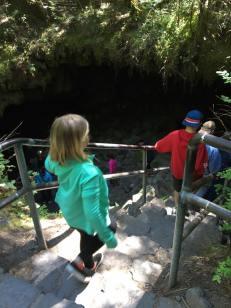Entering Guler Ice Cave