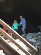 Guler Ice Cave very slippery
