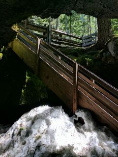 Stairs of Guler Ice Cave