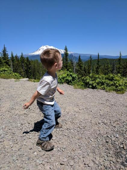 Throwing Rocks at Mt Hood