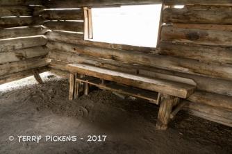 Cunningham Cabin interior with work bench