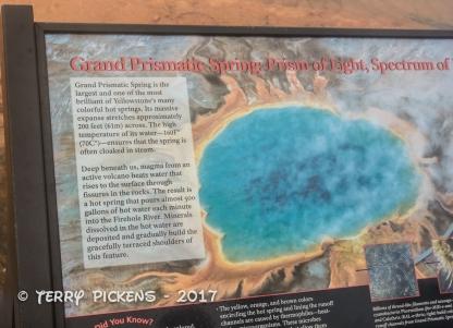 Grand Prismatic Spring Sign
