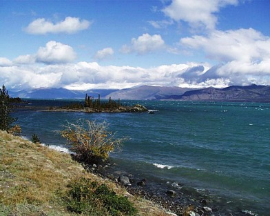 Kluane Lake from Google