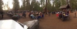 Dinner time around the campfire