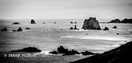 The sea at Cape Blanco Lighthouse, OR