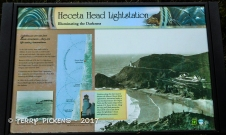Informational Sign at Heceta Head Lighthouse