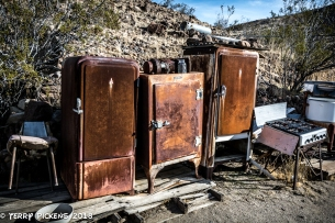 Bickel Camp Equipment, old refrigerator anyone