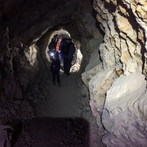 Walking through Burro Schmidt's Tunnel