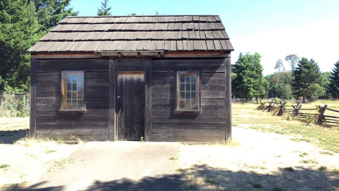 Reconstructed homes of the Village of old Fort Vancouver