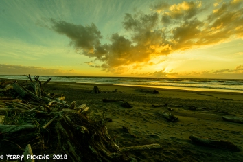 Sunset from Cape Disappointment Campground Beach