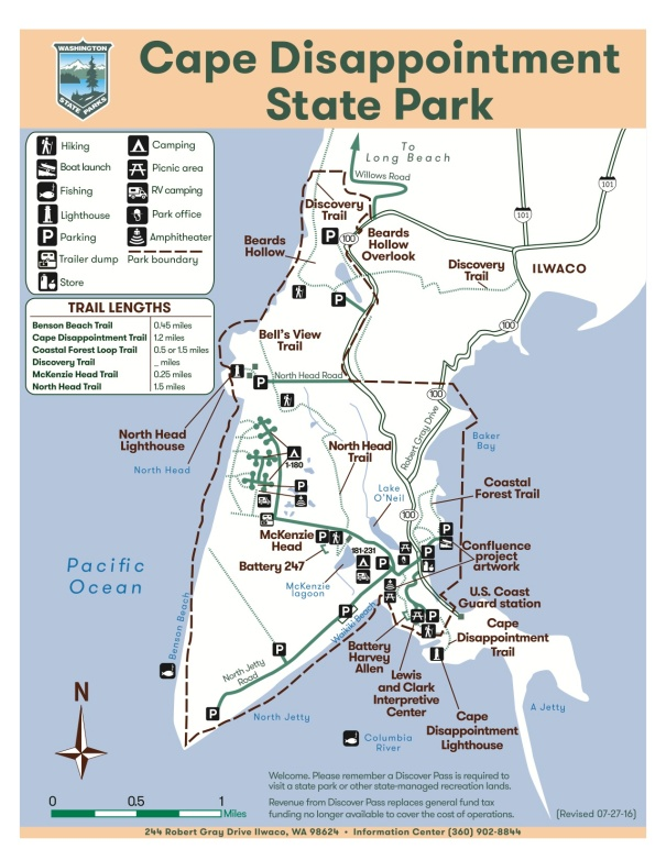 """Cape Disappointment Map 07-27-16"""