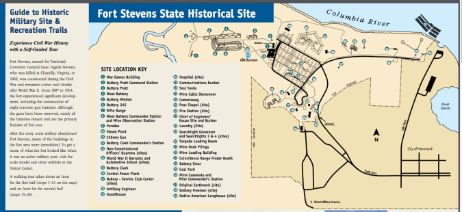 Fort Stevens installation map