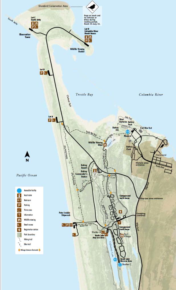 Fort Stevens Park Map