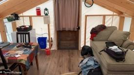 White House Tent Cabin Interior