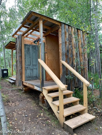 White House Tent Cabin Restroom and Shower area